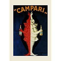 "Campari Drink Italy Italia Italian By Cappiello 12"" X 16"" Image Size Vintage Poster Reproduction we have other sizes available"