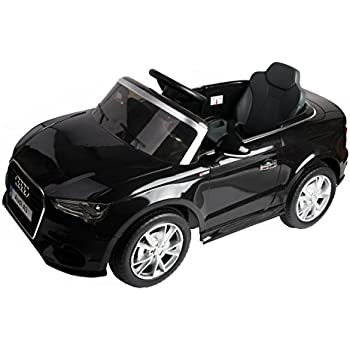 Costzon Ride On Car, Licensed Audi A3 12V 2WD Battery Powered Ride-On Toy Manual/ Parental Remote Control Modes Vehicle with Headlights, MP3, Music, Adjustable Speed for Kids (Black)