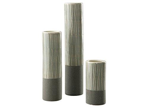 Ashley Furniture Signature Design - Eire Vases - Set of 3 - Contemporary - Taupe/Black
