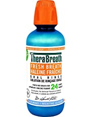 TheraBreath Fresh Breath Oral Rinse - Icy Mint | Fights Bad Breath | Certified Vegan, Gluten-Free, & Kosher | 473ml