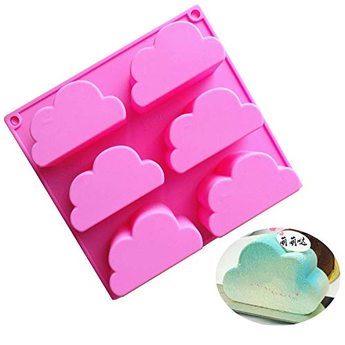 MoldFun Cloud Silicone Molds for Chocolate Candy Gummy Gelatin Jello Jelly Baking Mousse Cake Soap Bath Bomb Crayons Wax Melt Plaster Ice Cube Tray ()