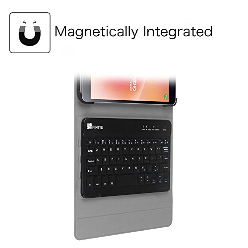 Fintie Keyboard Case for Samsung Galaxy Tab A 8.0 2017 Model T380/T385, Smart Slim Shell Stand Cover with Detachable Wireless Bluetooth Keyboard, Composition Book