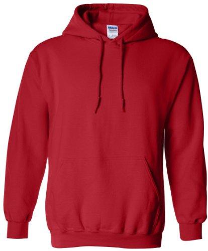 Gildan Heavy Blend-Felpa con cappuccio, taglia M, colore: rosso