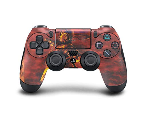 (PS4 DualShock Wireless Controller Pro Console - Newest PlayStation4 Controller with Soft Grip & Exclusive Customized Version Skin (Mortal Kombat Scorpion)