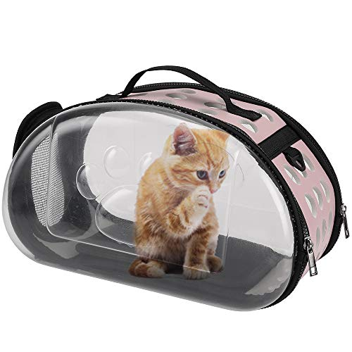 FREESOO Cat Carrier Dog Carrier Backpack Pet Back Pack Bubble Breathable & Foldable & Adjustable Carrying Travel Bag for…