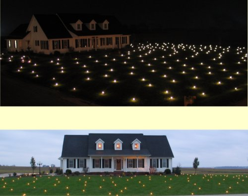 Lawn Lights Illuminated Outdoor Decoration, LED, Christmas, 36-10, Warm White