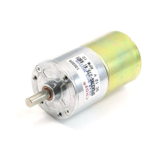 uxcell DC 12V 10RPM Rotating Speed Round Drive Shaft Gear Box Motor