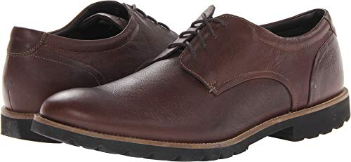 Casual Shoes Men Leather (Rockport Men's Colben Plain Toe Oxford Chocolate Brown 8 M (D)-8  M)