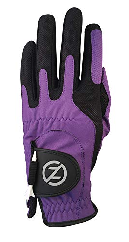 Zero Friction Male Men's Compression-Fit Synthetic Golf Gloves, Purple, One Size ()