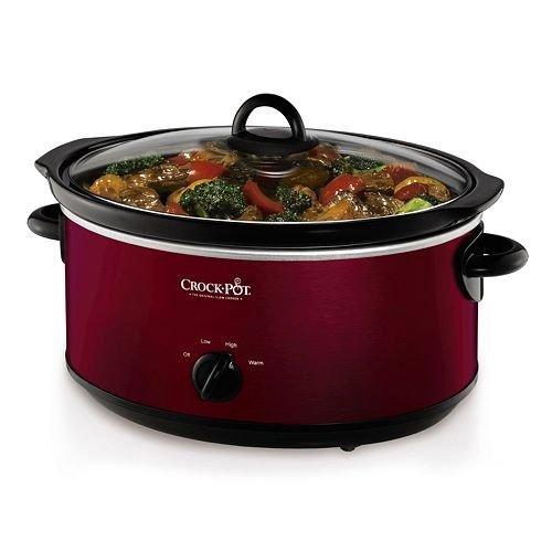 Crock-Pot 7-qt. Slow Cooker-RED