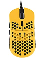 HK Gaming Mira M Ultra Lightweight Honeycomb Shell Wired Gaming Mouse - 6 Buttons - 63 g (12 000 cpi, Bumblebee)