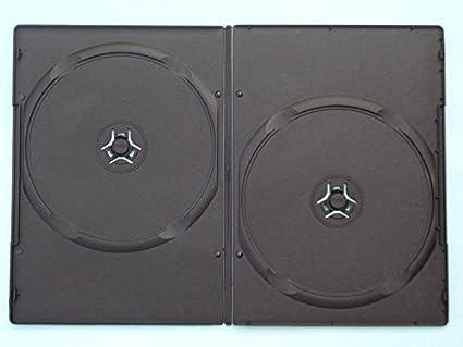 Caja de DVD 7 mm Doble, 100 unidades), color negro: Amazon.es ...