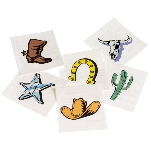 US Toy Western Temporary Tattoos (2-Pack)