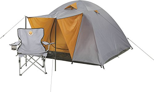 Grand Canyon Phoenix L - Kuppelzelt (4-Personen-Zelt), grau/orange, 302016