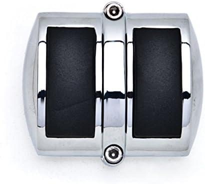 Krator Chrome Brake Pedal Pad Cover Black NonSlip Rubber For Kawasaki Vulcan 900 Classic 2006-2013