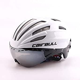 White helmet protective helmet suitable for cyclists with sun and air protection