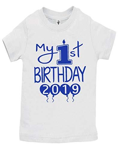 - Aiden's Corner Handmade 1st Birthday Baby Clothes - Baby Boys My First Birthday Bodysuits and Shirts (Shirt 12 Months, 2019 Royal White SH)