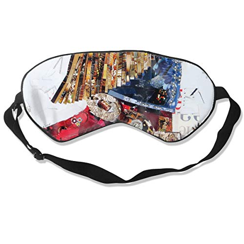 NCNET 100% Silk Sleep Mask for Women Men,Night Blindfold,Light Blocking,Eye Shade,Sleeping Aid,Adjustable Strap for Travel Nap Shift Work,Abstract Cowgirl -