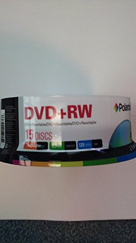15PCS POLAROID BRANDED DVD+RW IN CAKEBOX, 4X, 4.7GB, 120MIN POLDVD+RW by LDB MART