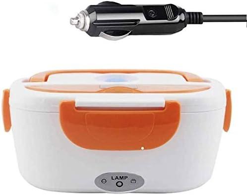 Kk ホット食品用電気ランチボックス、ステンレスランチ断熱ポット、漏れ防止二重壁真空断熱食品フラスコ、スクールランチのための断熱ポット (Color : Orange)