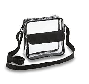 Amazon.com: Clear Cross-Body Messenger Shoulder Bag w Adjustable ...