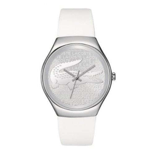 Lacoste 2000785 - Reloj de cuarzo para mujer, con correa de silicona, color blanco