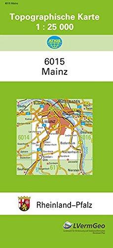 TK25 6015 Mainz: Topographische Karte 1:25000 (Topographische Karten 1:25000 (TK 25) Rheinland-Pfalz (amtlich)) Landkarte – 1. Januar 2017 3896370774 Deutschland Atlas Mainz / Stadtplan