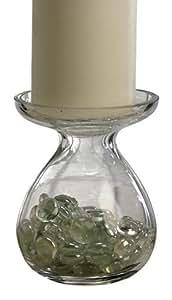 Biedermann & Sons Glass Pillar Candle Holder Vase, 4-Inch Diameter