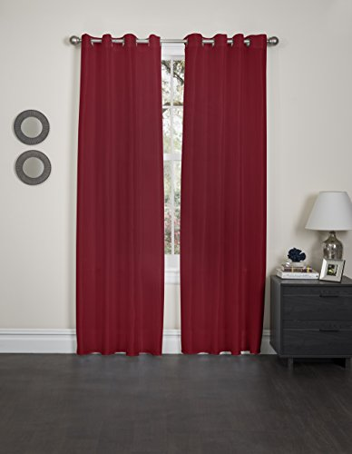 Kashi Home Holly Collection Window Treatment/Curtain/Sheer Faux Silk with Grommet Top, 57