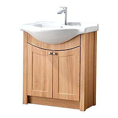 "RESSORTIR bathroom vanity, Honey Oak - Size: 26"" Wide by 19"" Deep by 37"" Tall FAUCET AND POP UP DRAIN NOT INCLUDE Constructed in laminate composite wood with 2 door - bathroom-vanities, bathroom-fixtures-hardware, bathroom - 41OV2aiZb8L. SS400  -"