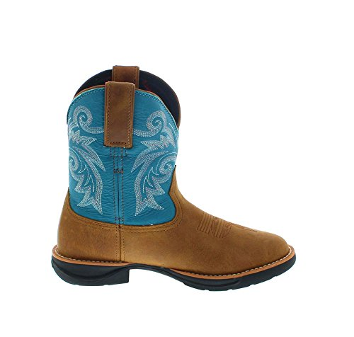 FB Fashion Boots Women's Rkw0219 Lt Cowboy Boots Brown Turquoise 0XyxOBhx