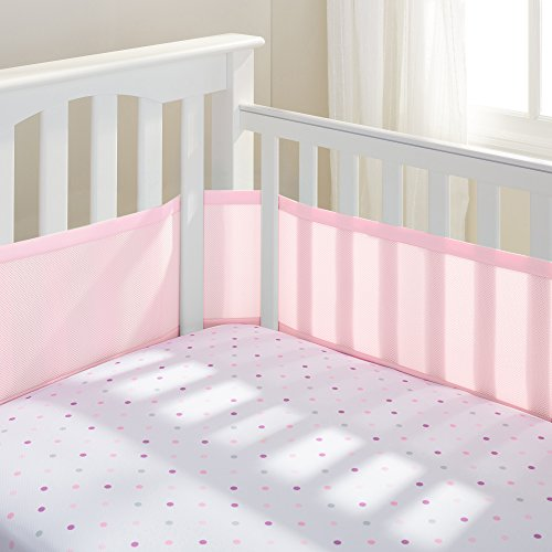 BreathableBaby Mesh Crib Liner - Light Pink