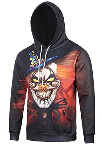 Tumblr Halloween Costumes (Abetteric Mens Baggy Style Halloween Costume Stylish Juniors Hoodies As Picture M)