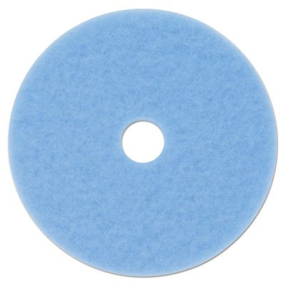3M 59825-case 3M Sky Blue Hi-Performance Burnish Pad 3050, 20 in, 5/Case, Polyester (Pack of 5) by 3M