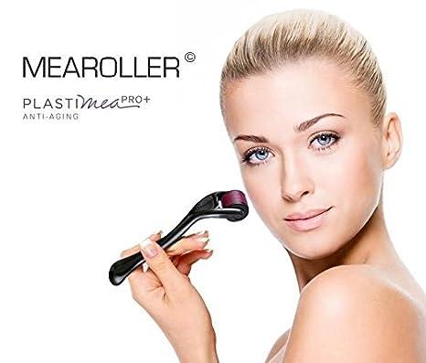 Derma Roller Facial de 540 Micro Agujas de Titanio Cuidado de la Piel Peeling Facial Antiedad Eficaz Anti Arrugas Celulitis Cicatrices Acne Estrias ...