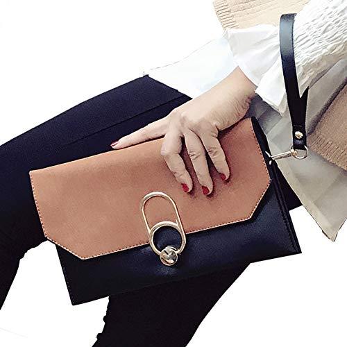 ALAIX Womens Formal Clutch Evening Purse Envelope Rhinestone Handbag with Wristlet Shoulder Chain Brown(b16)