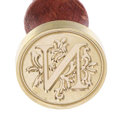 Letter Sealing Wax Stamp for Invitation Envelope Scrapbooking A-Z Initial |Color - N|