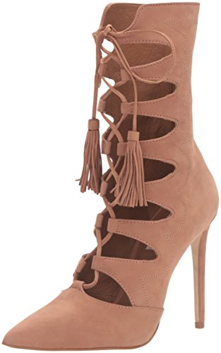 Boho-Chic Vacation & Fall Looks - Standard & Plus Size Styless - Steve Madden Women's Piper Boot, Tan Nubuck, 7.5 M US