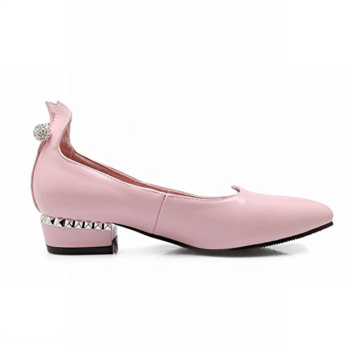 Spectacle Briller Mode Féminine Douce Orteil Pointu Mocassins Chaussures Rose