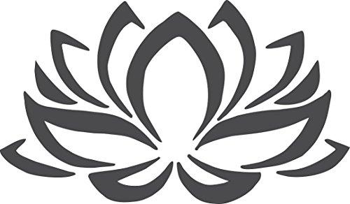 Barking Sand Designs Matte Black Lotus Flower - Die Cut Vinyl Window Decal/Sticker for Car/Truck 6
