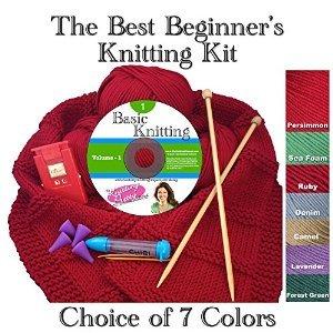 The Best Beginner's Knitting Kit (Persimmon)