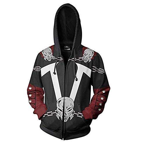 Spawn Costume - Superhero Hoodie Al Simmons Costume 3D