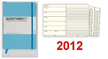 Semana Calendario wochenplaner 2012 Pocket turquesa 1 semana ...