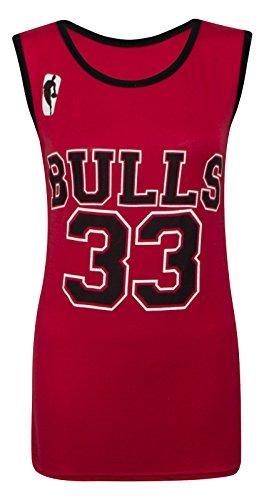 Única 33 Rosso Chicago Bulls Camiseta Sin 14 Talla Multicolor Tallas Para Mujer 8 Mangas YTU6qwO