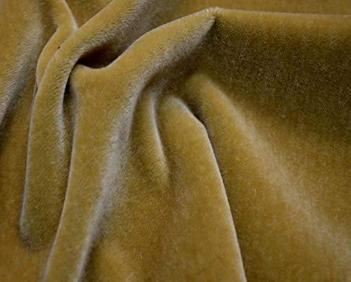 - Gold Tan Mohair Velvet Upholstery JB Martin Fabric Nevada Camel