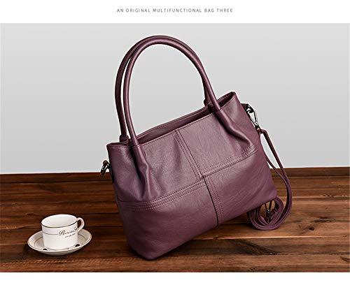 en dos violet sac peau sac sac de mère LANDONA Messenger mode de main mouton entreprise en Nouveau sac bandoulière main à sauvage à à sac cuir à Sac qgBIpwgx