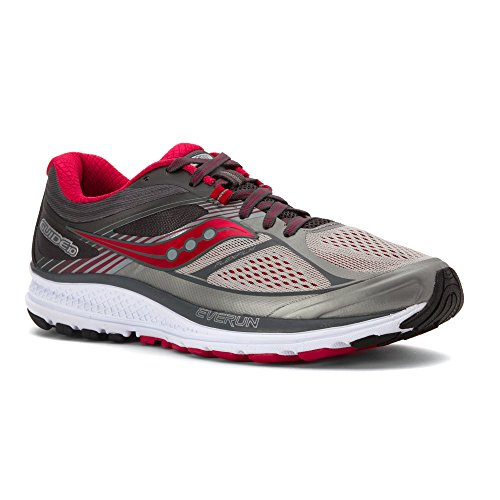 Saucony Women's Guide 10 Running Shoe, Silver/Berry, 11 M US by Saucony
