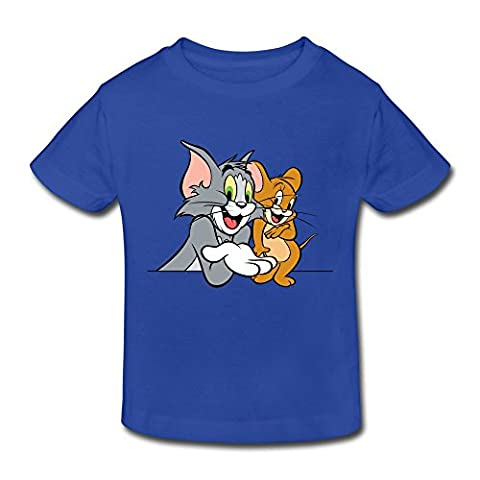 RenHe Toddler Graphic Tom And Jerry T-shirts Size 5-6 Toddler RoyalBlue (Tom And Jerry Tee Shirts)