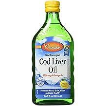 Carlson Labs Cod Liver Oil Nutritional Supplement, Lemon, 16.9 Fluid Ounce
