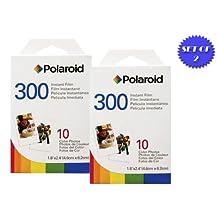 2 Pack Of Polaroid PIF-300 Instant Film for 300 Series Cameras + DBRoth Micro Fiber Cloth